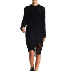 Solutions distressed sweaterdress